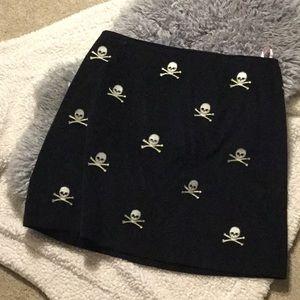 Halloween Skull and crossbones Corduroy Skirt